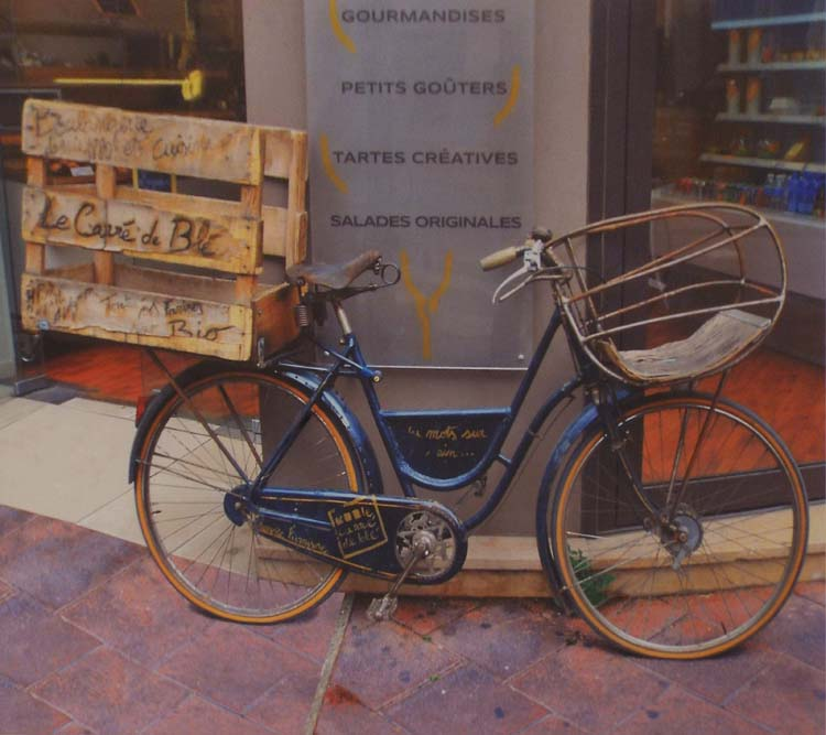 HONORABLE MENTION: Delivery Bike, Metallic Photograph by Deborah S Herndon (September 2014)