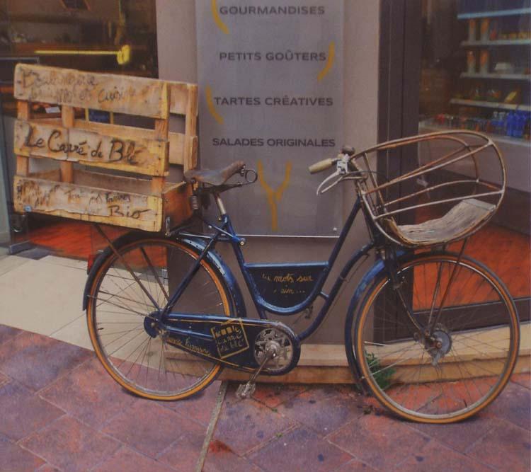 HONORABLE MENTION: Delivery Bike, Metallic Photograph by Deborah S Herndon (September 2014)