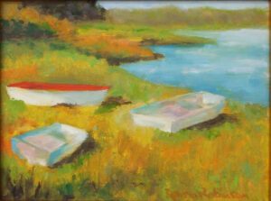 Three Boats, Oil by Donna Robinson (February 2014)