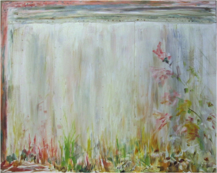 THIRD PLACE: Garden Wall No 2, Oil on Canvas by Elizabeth Shumate (October 2014)