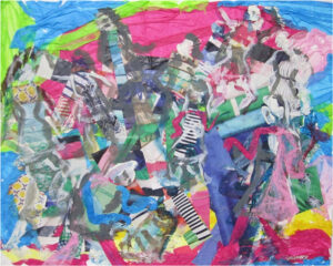 Shopping Spree, Collage and Mixed Media by Elizabeth Shumate (October 2014)