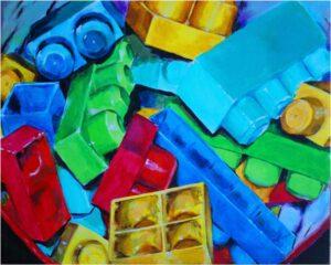 The Building Blocks, Acrylic on Canvas by Heathyr Chenoweth (July 2014)