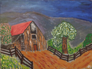 Rustic Barn, Acrylic by James Clark (April 2014)