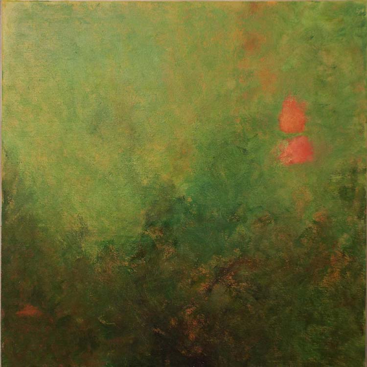 HONORABLE MENTION: Vibe No 9, Oil on Canvas by Jane T Woodworth (June 2014)