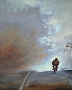 Morning Commute, Oil on Linen by Jeannie Stone (September 2014)