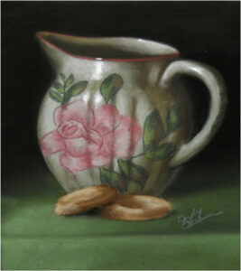 Milk and Cookies, Soft Pastel by Judy Leasure (December 2014/January 2015)