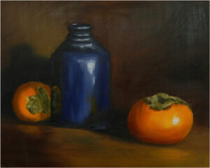 Study in Blue and Orange, Oil Painting by Judy Leasure (December 2014/January 2015)