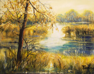 Golden Day, Acrylic Painting by Karen Julihn (November 2014)