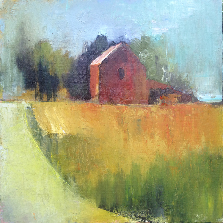 HONORABLE MENTION: Indiana Barn, Oil on Board by Karen Loehr (November 2014)