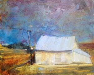 Old Schoolhouse, Oil on Board by Karen Loehr (November 2014)