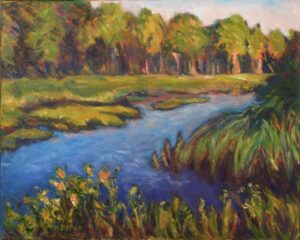 Bass Harbor Marsh Late Afternoon, Oil Painting by Kate Dervin  (June 2014)