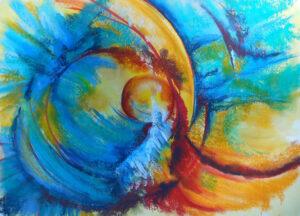Color Energy, Mixed Media by Kathleen Willinham (November 2014)