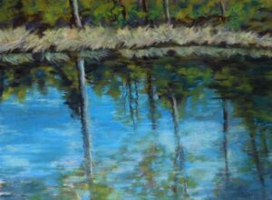 Pond Reflections, Soft Pastel by Kathleen Willingham (June 2014)
