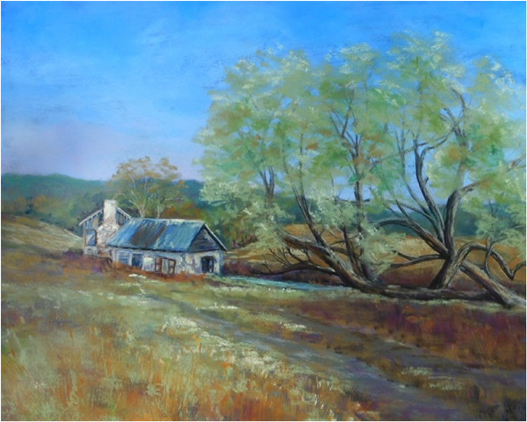 HONORABLE MENTION: Spring House, Soft Pastel by Kathleen Willingham (October 2014)