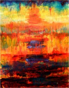 Sunset, Acrylic Painting by Kathleen Willingham (July 2014)d