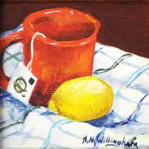 Tea with a Lemon, Acrylic Painting by Kathleen Willingham (December 2014/January 2015)