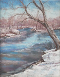 Winter at Kellys Ford, Pastel by Kathleen Willingham (February 2014)