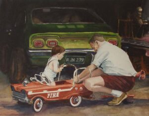 The Mechanic, Watercolor by Keith P Beale (September 2014)