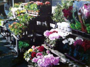 Paris Flower Market, Acrylic on Canvas by Laura Craig (June 2014)