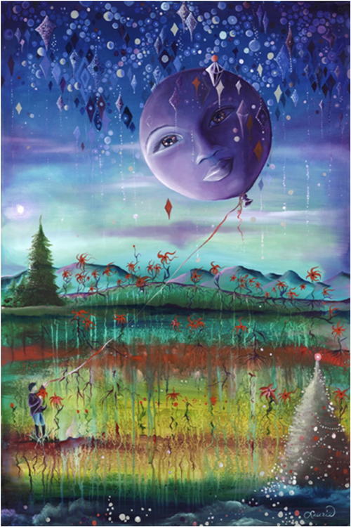 HONORABLE MENTION: Lucy in the Sky, Oil on Canvas by Laurie Nelson (March 2014)