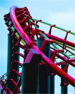 Amusement Part Abstract, Photograph by Lee Cochrane (March 2014)