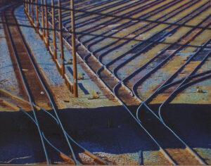 Railyard Lines, Photograph by Lee Cochrane (April 2014)