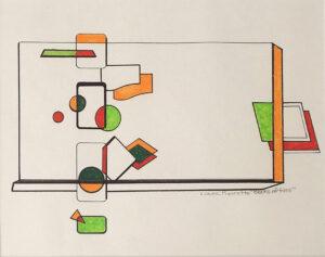 Blocks of Time, Mixed Media by Liana Pivrotto (February 2014)