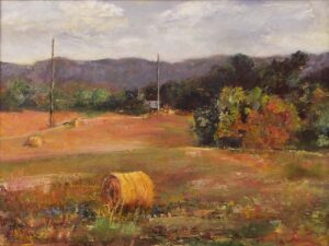 Bring The Harvest, Taylor Farm, Oil Painting by Nancy M Wing (June 2014)