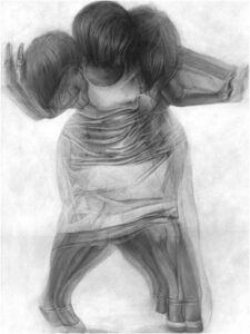 Motion Study I 2013, Acrylic, Graphite, and Pencil on Paper by Nicole Buckingham (September 2014)