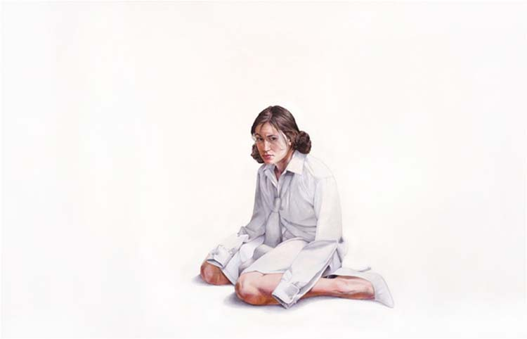 HONORABLE MENTION: The In Between 2012, Acrylic and Color Pencil on Paper by Nicole Buckingham (September 2014)