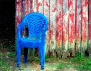 Blue Chairs, Photograph by Norma Woodward (February 2014)