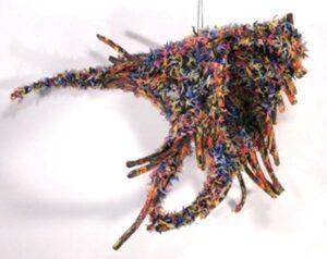 Fleeing, Tubular Knit Rushing Paint by Passle Helminski (July 2014)
