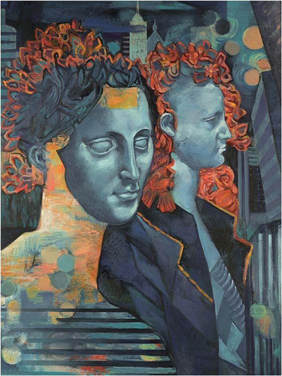 FIRST PLACE: Blues in the the Night, Oil on Canvas by Patricia DiBella-Kreger (September 2014)