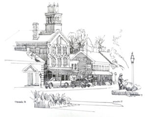 Strasburg PA, Pen and Ink by Paul Hitchen (December 2014/January 2015)