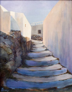 Grecian Holiday, Acrylic by Penny Hicks (April 2014)