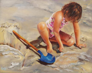 Waiting for the tide, Oil Painting by Penny Hicks (September 2014)