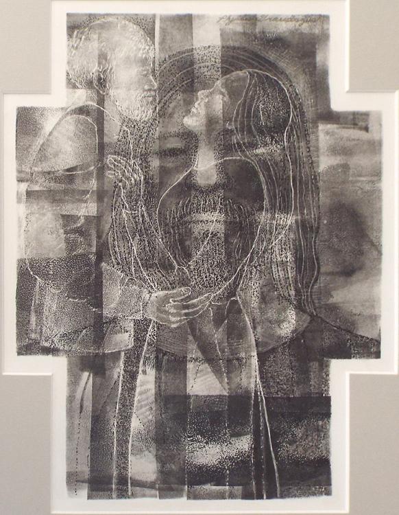 SECOND PLACE: Coupleina Cross, ink on Clayboard bu Phillis Graudszus (February 2014)