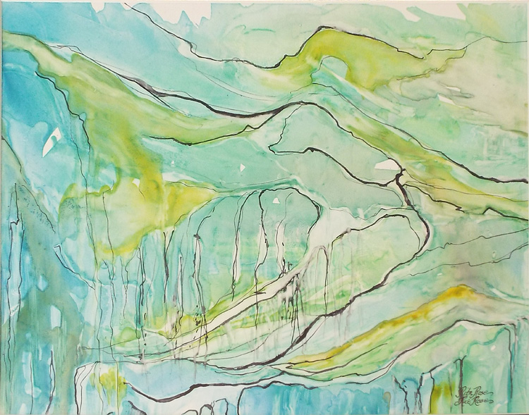 HONORABLE MENTION: Byways, Watercolor by Rita Rose and Rae Rose (April 2014)