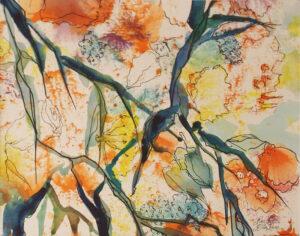 Citrus Persuasion II, Watercolor and Ink by Rita Rose and Rae Rose (October 2014)