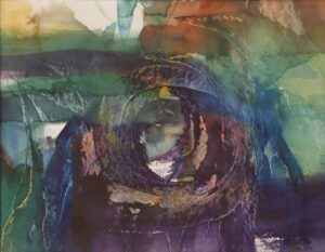 Eye of the Storm, Watercolor by Rita Rose and Rae Rose (June 2014)