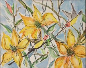 Good Morning, Watercolor by Rita Rose and Rae Rose (November 2014)