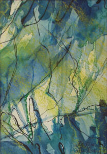 Into the Woods, Watercolor by Rita Rose and Rae Rose (December 2014/January 2015)