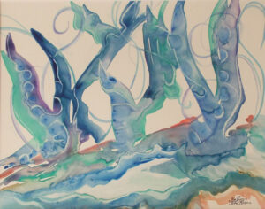 It's Your Fairy Tale, Watercolor on Yupo by Rita Rose and Rae  Rose (October 2014)