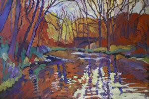 Morning on River, Acrylic on Canvas by Robert Hofherr (November 2014)
