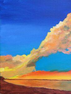 Unfinished Sunset, Acrylic Painting by Saeed Ordoubadi  (June 2014)