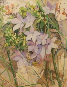 Italian Rock Flowers, Watercolor by Sally Rhone-Kubarek (October 2014)