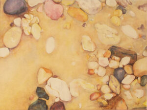 Potomac Pebbles, Watercolor by Sally Rhone-Kubarek (November 2014)