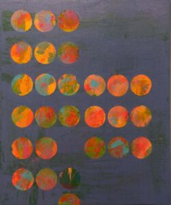 Social Circles, Acrylic on Canvas by Tarver Harris (June 2014)