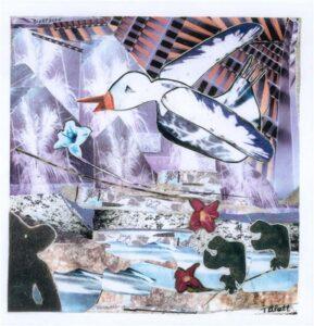 THIRD PLACE: Nightbird, Mixed Media by Teresa Blatt (July 2014)