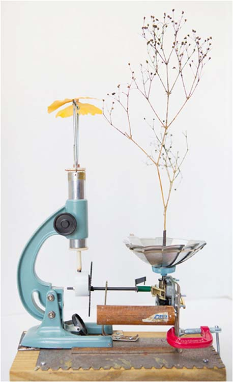 SECOND PLACE: Tea for Two, Found Object Kinetic Sculpture by Tim Harper (September 2014)
